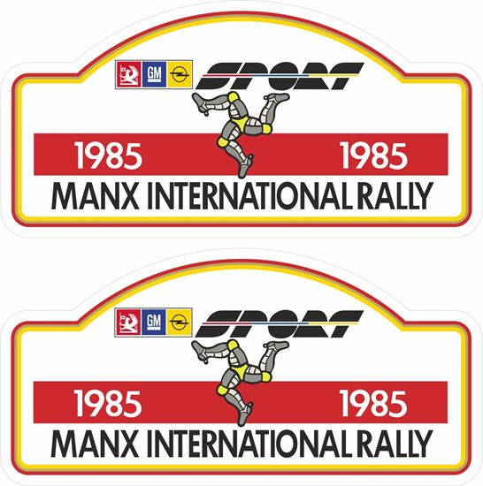 Picture of Opel International Manx Rally 1985 Decals / Stickers