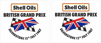 Picture of 1987 Shell Oils British Grand Prix Decals / Stickers