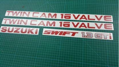 Picture of Suzuki Swift 1.3 GTi Twin Cam 16 Valve replacement Decals / Stickers