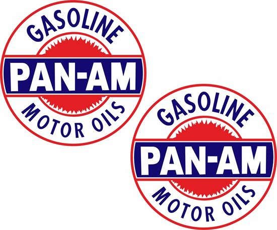 Picture of Pan-Am Motor Oils Decals / Stickers