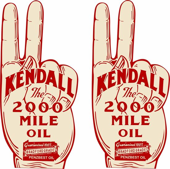 Picture of Kendall the 2000 mile oil Decals / Stickers
