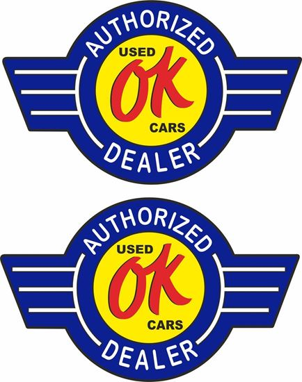 Picture of OK Used Cars Decals / Stickers