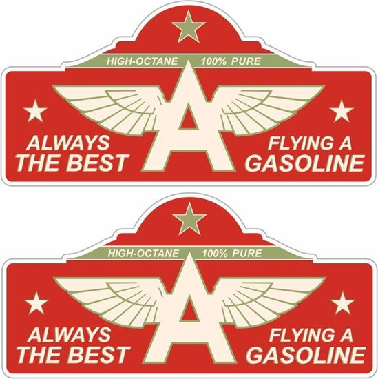 Picture of Flying A Gasoline Decals / Stickers