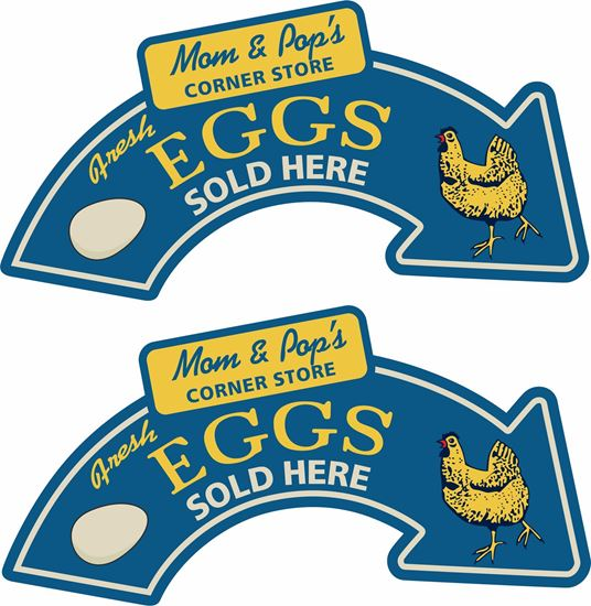 Picture of Mom & Pop's Corner Store Eggs Decals / Stickers