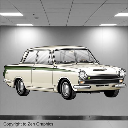 Picture of Lotus Cortina Wall Art sticker (Full colour)