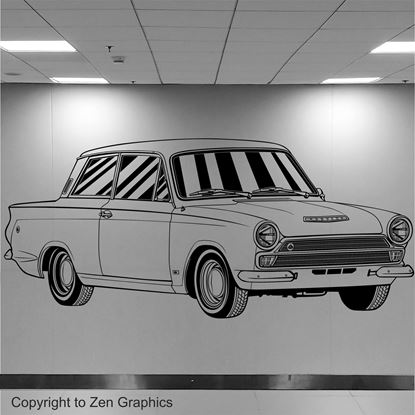 Picture of Lotus Cortina Wall Art sticker