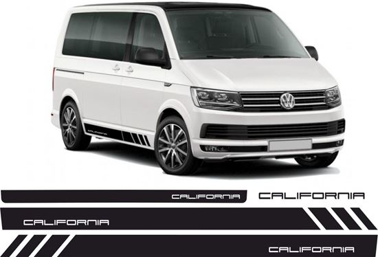"""Picture of VW T5  """"California"""" side & rear Stripes / Stickers"""