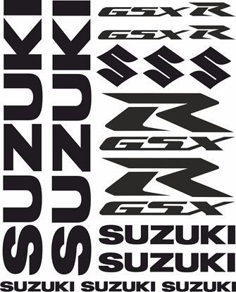 Picture of Suzuki GSX-R  Decals / Stickers kit