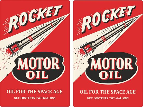 Picture of Rocket Motor Oil Decals / Stickers