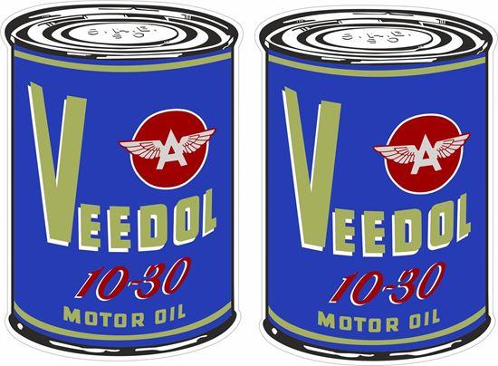 Picture of Veedol Motor Oil Decals / Stickers