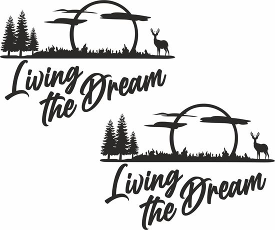 Picture of Living the Dream Decals  / Stickers