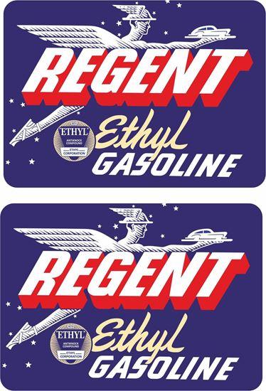 Picture of Regent Ethyl Gasoline Decals / Stickers