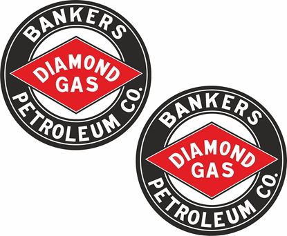 Picture of Bankers Diamond Gas Decals / Stickers