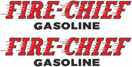 Picture of Fire - Chief Gasoline Decals / Stickers