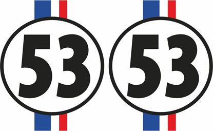 Picture of Herby 53 Decals / Stickers
