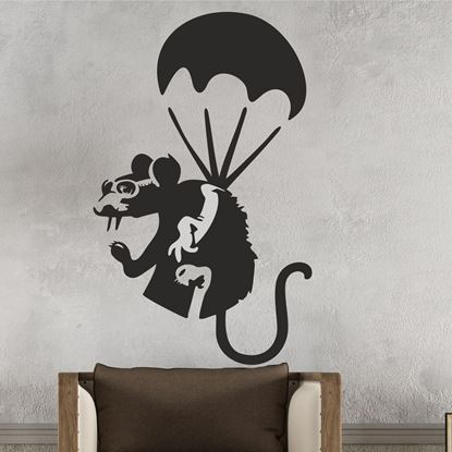 Picture of Banksy Parachuting Rat  Wall Art sticker