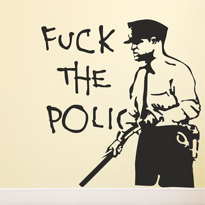 """Picture of Banksy """"Fuck the police""""  Wall Art sticker"""