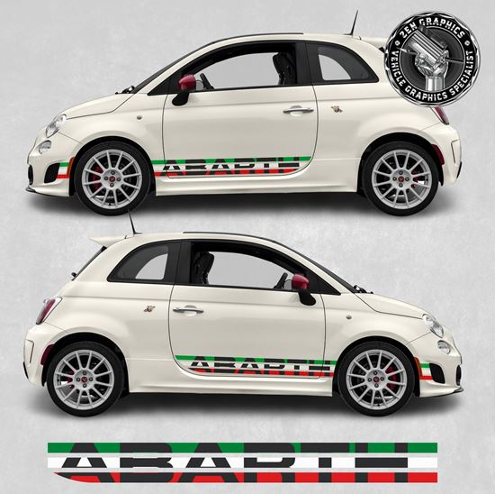 Picture of Fiat 595 / 695 side Stripes / Stickers