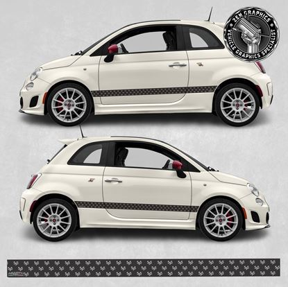 Picture of Fiat 595 side Stripes / Stickers