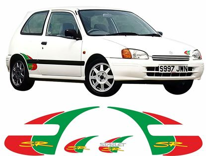 Picture of Toyota Starlet 1996 - 99 1.3i SR replacement Decals / Stickers