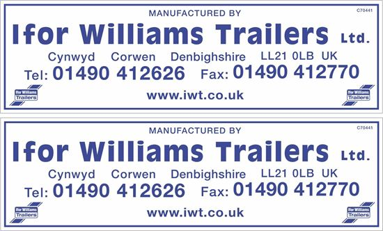 Picture of Ifor Williams Trailers Stickers / Decals