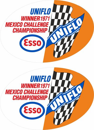 Picture of Uniflo Esso Mexico Challenge championship 1971 Decals / Stickers