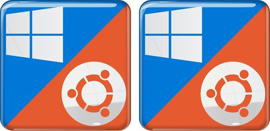 Picture of Windows 10 ubuntu Gel Badges