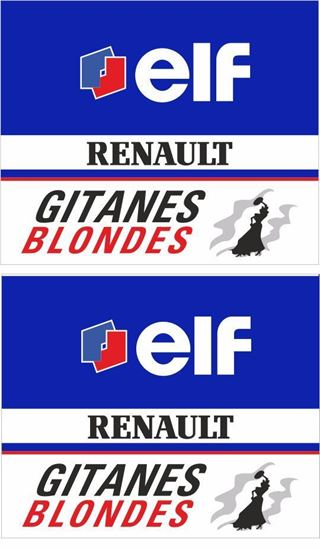 Picture of Gitanes Blondes Renault F1 Decals / Stickers