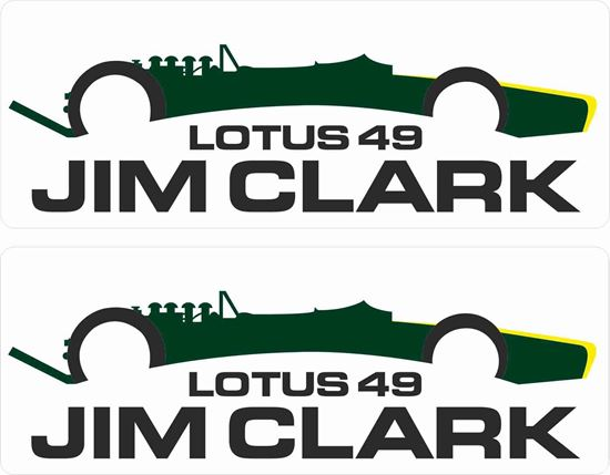 Picture of Lotus Jim Clarke Decals / Stickers