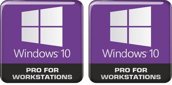Picture of Windows 10 Pro for workstations Gel Badges