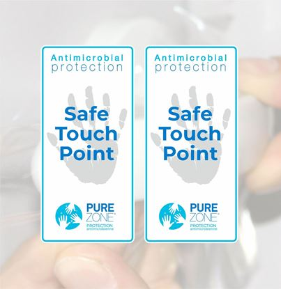 """Picture of Purezone Antimicrobial film Protected """"Touch Point"""" Decals / Stickers"""