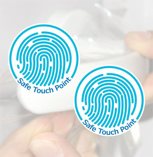 """Picture of Antimicrobial film """"Touch Point"""" Decals / Stickers"""