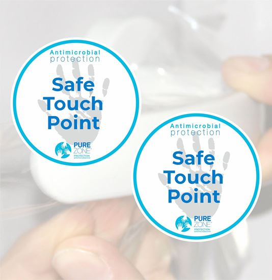 """Picture of Purezone Antimicrobial film """"Touch Point"""" Decals / Stickers"""