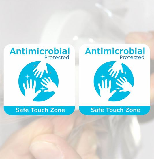 """Picture of Antimicrobial film """"Safe Touch Zone"""" Decals / Stickers"""