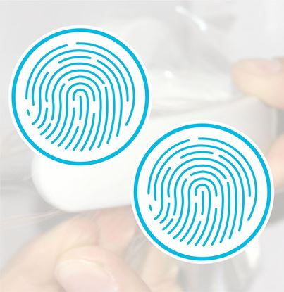 Picture of Antimicrobial film Touch Point Decals / Stickers