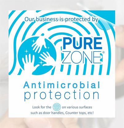 Picture of Purezone Antimicrobial film Protection Decals / Stickers