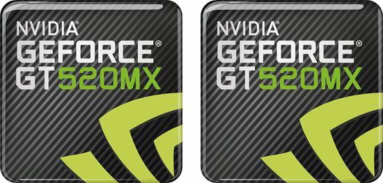 Picture of Nvidia Geforce GT 520MX Gel Badges