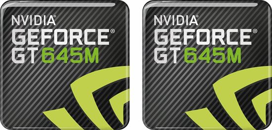 Picture of Nvidia Geforce GT 645M Gel Badges