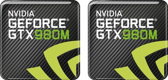 Picture of Nvidia Geforce GT 980M Gel Badges