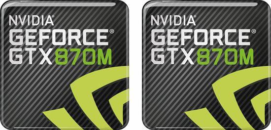 Picture of Nvidia Geforce GTX 870M Gel Badges
