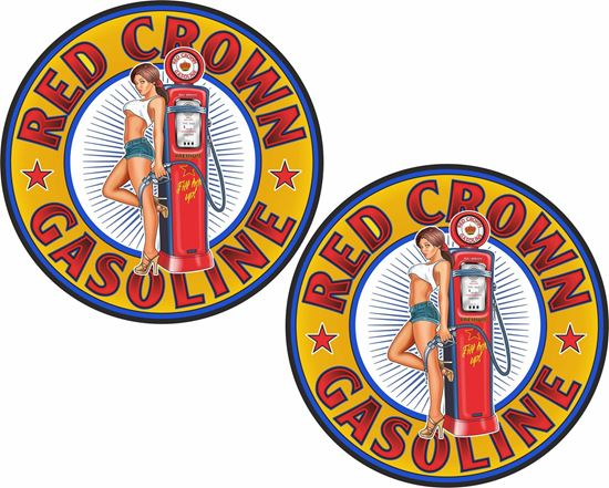 Picture of Red Crown Gasoline Decals / Stickers