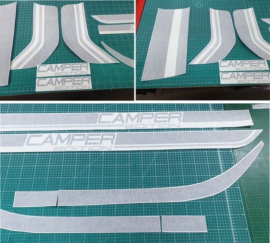 Picture of Vauxhall Vivaro Renault Traffic  Camper Edition Graphics kit TWO COLOUR