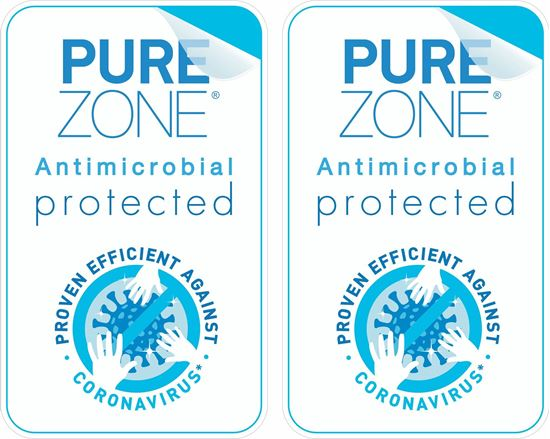 """Picture of Purezone Antimicrobial film """"Protected"""" Decals / Stickers"""