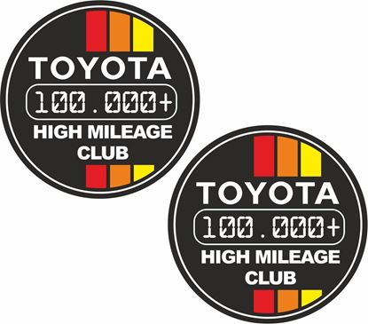 """Picture of """"Toyota 1000.000+ High Mileage Club"""" Decals / Stickers"""