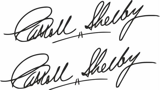 Picture of Carroll Shelby Signature Stickers / Decals