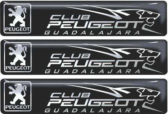 Picture of Club Peugeot Guadalajara adhesive Badges 100mm