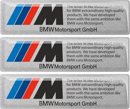 Picture of BMW Motorsport adhesive Badges 100mm x 26mm