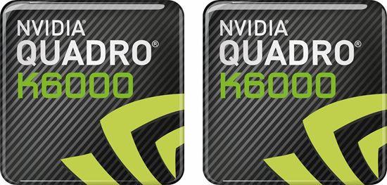 Picture of Nvidia Quadro K6000 Gel Badges