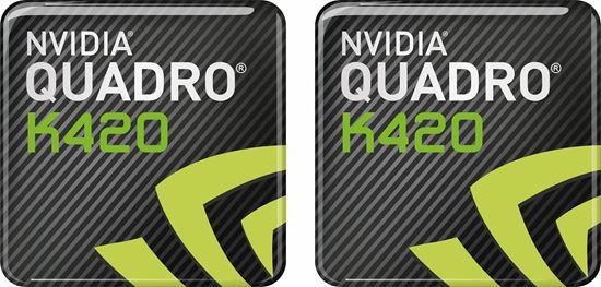 Picture of Nvidia Quadro K420 Gel Badges