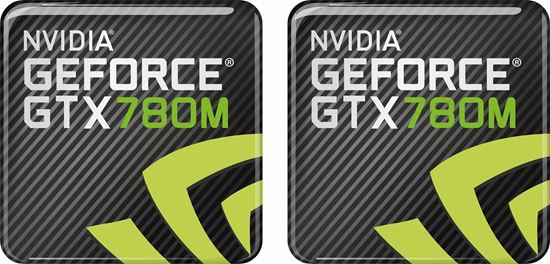 Picture of Nvidia GTX 780M Gel Badges